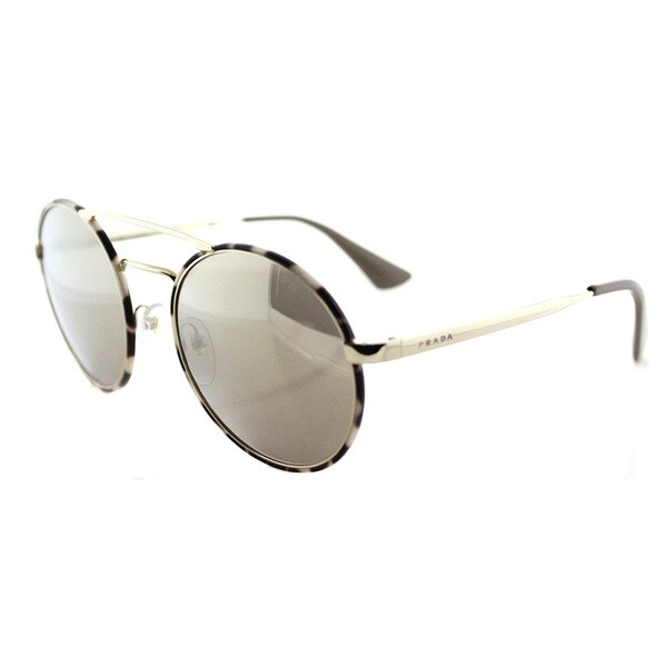 b3fbb47a6413d ... usa prada pr 51ss uao1c0 pale gold tortoise metal round gold mirror  lens sunglasses 54bd5 96ffb