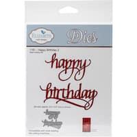 Elizabeth Craft Metal Die-Happy Birthday 2, 3.4X3.5