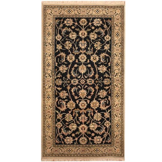 Herat Oriental Indo Hand-knotted Nain Wool & Silk Rug (3' x 5'4)