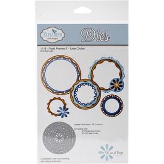 "Elizabeth Craft Metal Die-Lace Circles - Fitted Frames 5, 4.75"""