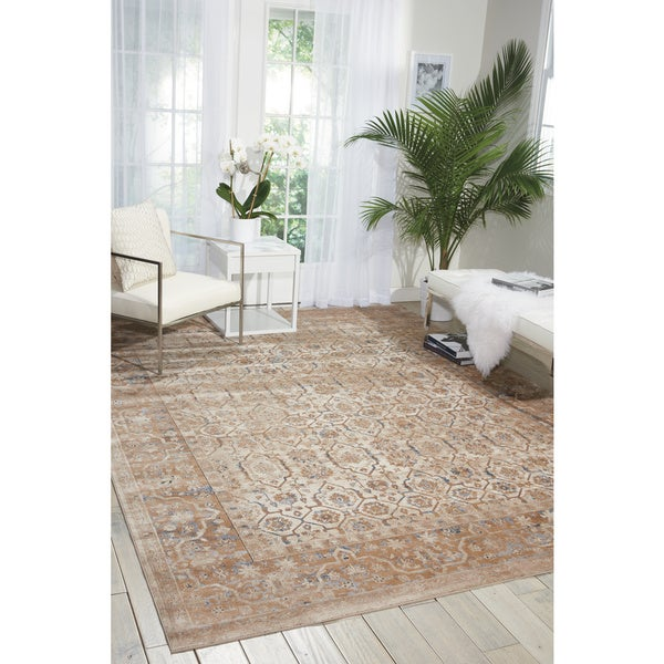 Shop Kathy Ireland Malta Taupe Area Rug By Nourison 5 3