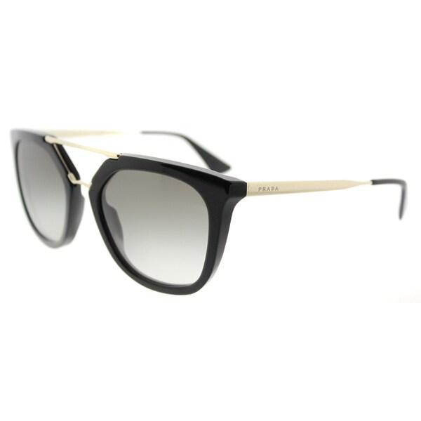 917417469c Prada PR 13QS 1AB0A7 Cinema Black Plastic Cat-Eye Grey Gradient Lens  Sunglasses