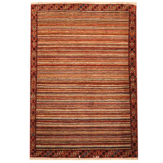 Herat Oriental Persian Hand-knotted Gabbeh Wool Rug (3'6 x 5')