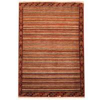 Herat Oriental Persian Hand-knotted Gabbeh Wool Rug (3'6 x 5') - 3'6 x 5'