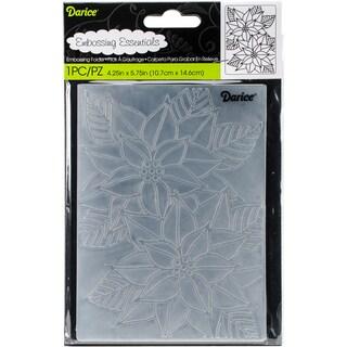 """Embossing Folder 4.25""""X5.75""""-Mosaic Poinsettia"""