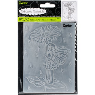 "Embossing Folder 4.25""X5.75""-Fairy Garden"