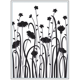 "Embossing Folder 4.25""X5.75""-Dainty Wildflowers"