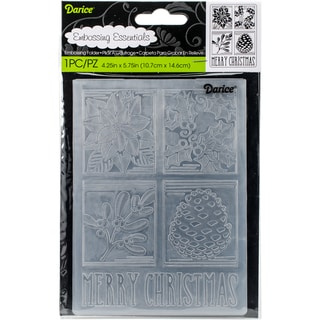 "Embossing Folder 4.25""X5.75""-Christmas Squares"