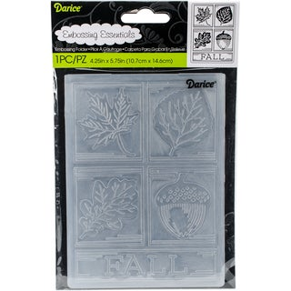 "Embossing Folder 4.25""X5.75""-Fall Squares"
