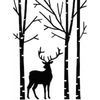 "Embossing Folder 4.25""X5.75""-Deer In Forest"