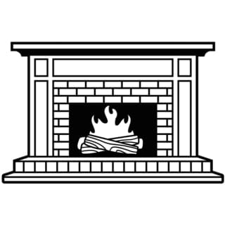 "Embossing Folder 4.25""X5.75""-Fireplace"