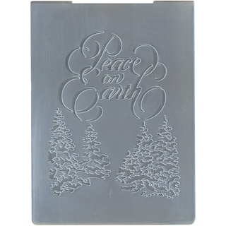 "Dreamweaver Embossing Folders 4.125""X5.625""-Peace On Earth"