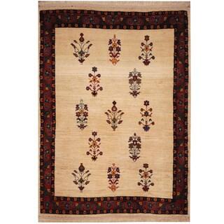 Herat Oriental Persian Hand-knotted Tribal Kajkoli Wool Rug (3'6 x 5')