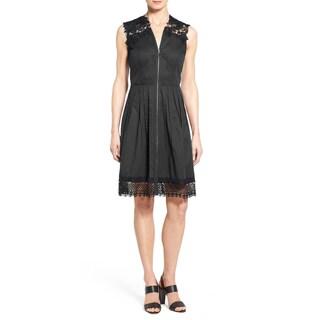 Elie Tahari Women's Cady Black Cotton Lace A-line Dress
