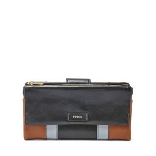 Fossil Ellis Neutral Multicolor Leather Clutch Wallet