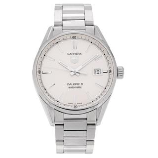 Tag Heuer Men's Carrera Calibre WAR211B.BA0782 Stainless Steel Silver Dial Bracelet Watch