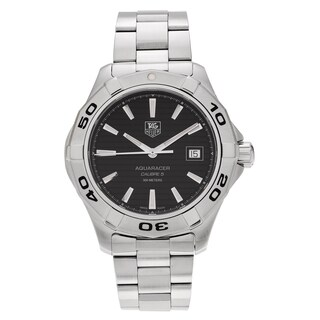 Tag Heuer Men's Aquaracer WAP2010.BA0830 Stainless Steel Black Dial Bracelet Watch