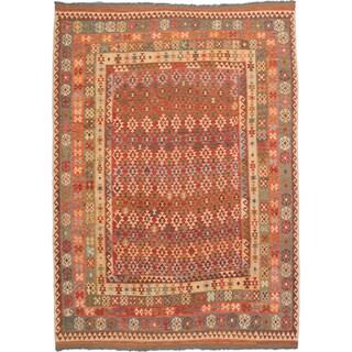 ecarpetgallery Hand-Woven Kashkoli Kilim Blue, Red Wool Kilim (9'7 x 13'2)