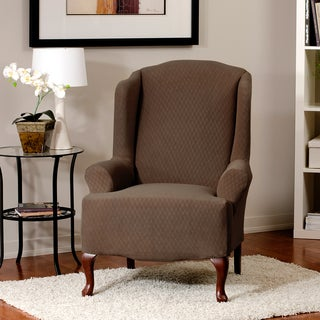 Diamond Stretch Wing Chair Slipcover