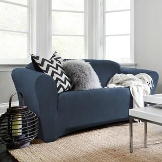 Harlow Blue Blend Stretch Sofa Slipcover