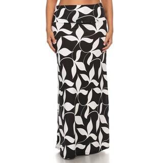 Women's Plus Size Floral Motif Maxi Skirt