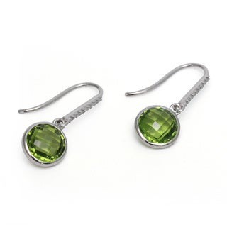 Sonia Bitton 14k White Gold Peridot and Diamond Earrings
