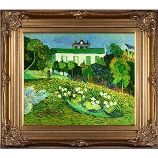 Vincent Van Gogh 'Daubigny's Garden' Hand Painted Framed Oil Reproduction on Canvas