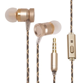 One Voice Audio Boom Gold Aluminum Alloy and Silicon-coated Nylon Ultra Premium Earphones