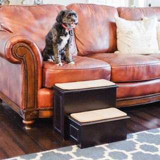 Deluxe Wood 2 Step Pet Steps