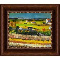 Vincent Van Gogh 'The Harvest' Hand Painted Framed Oil Reproduction on Canvas