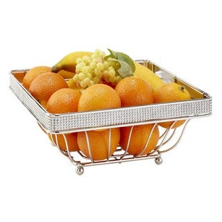 Kitchen Details Chrome Square Fruit Basket