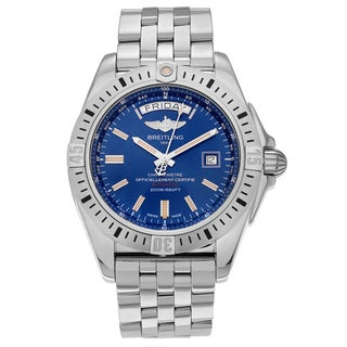 Breitling Men's Galactic 44 A45320B9/C902 Stainless Steel Blue Dial Bracelet Watch