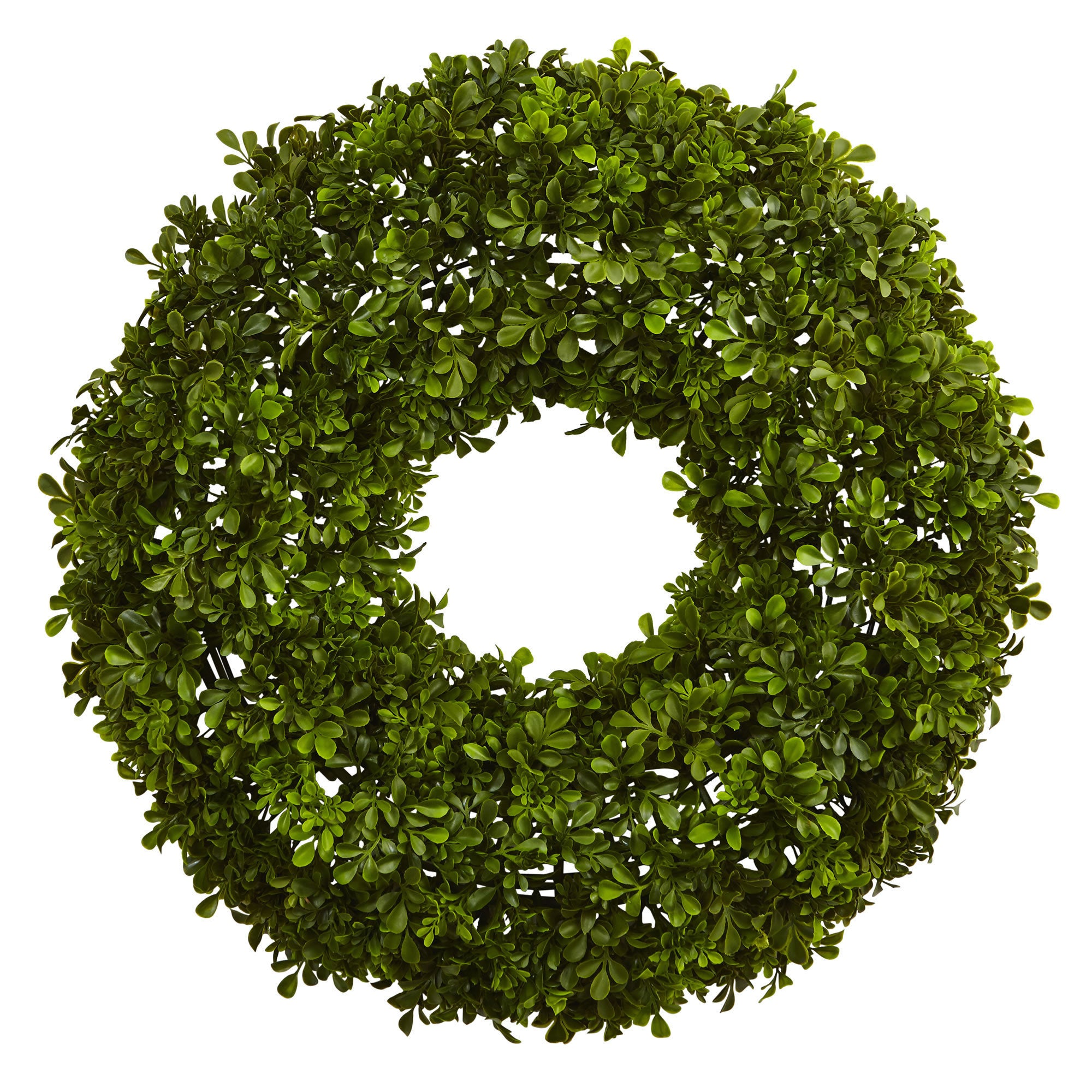 Nearly Natural 22-inch Boxwood Wreath (Wreaths), Green, S...