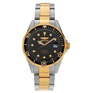 Invicta Men's Pro Diver 17049 Two-tone Stainless Steel black Dial Bracelet Watch