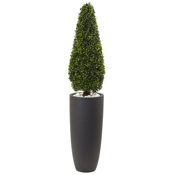 Nearly Natural Grey 50-inch Boxwood Topiary Indoor/Outdoor Silk Plant. Opens flyout.