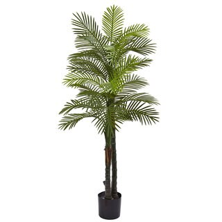 Nearly Natural Double Robellini Plastic 5.5-foot UV-resistant Indoor/Outdoor Palm Tree
