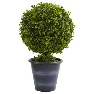 Nearly Natural 23-inch Boxwood Ball Topiary