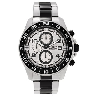 Invicta Men's Pro Diver 13869 Two-tone Steel Silver Dial Chronograph Bracelet Watch