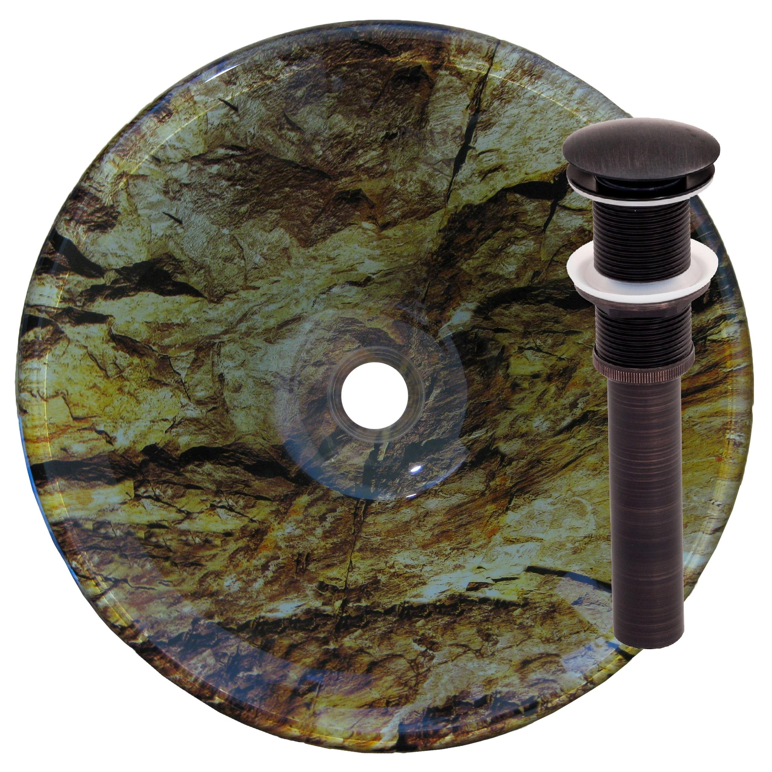 Novatto Mimetizzare Black and Brown Glass Camouflage Vess...