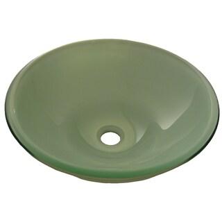 Novatto Glassato Brushed Nickel Glass Vessel Bathroom Sink Set