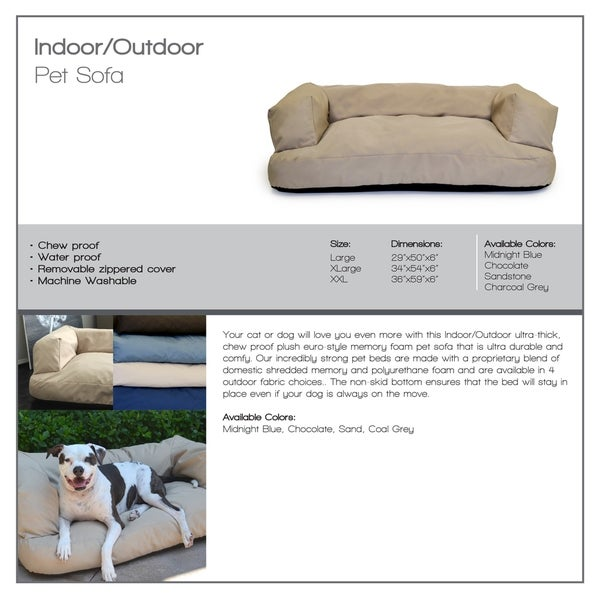 Integrity Bedding 6inch Memory Foam Dog Couch And Bed Free Shipping Today