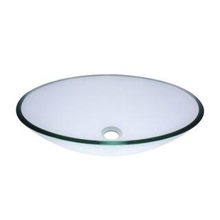 Novatto Ovale Oil Rubbed Bronze Glass Vessel Bathroom Sink Set