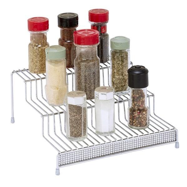 Kitchen Details Chrome 3-tier Spice Organizer