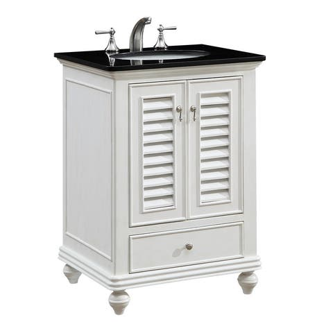 "25"" Hempstead Single Bathroom Vanity Set in Antique White"