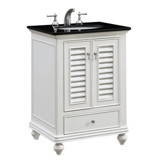 "25"" Hempstead Single Bathroom Vanity Set in Antique White"