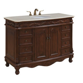 "48"" Arlea Single Bathroom Vanity Set in Teak Color"