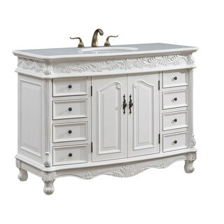 "48"" Arlea Single Bathroom Vanity Set in Antique White"