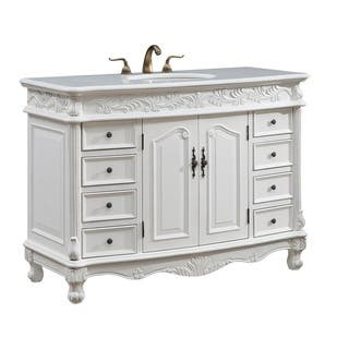 48 Arlea Single Bathroom Vanity Set In Antique White