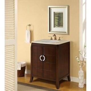 """27"""" Renee Single Bathroom Vanity Set in Brown"""
