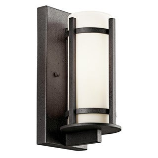 Kichler Lighting Camden Collection 1-light Anvil Iron Outdoor Fluorescent Wall Sconce